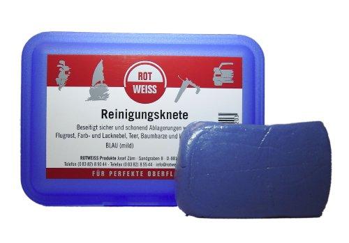 Rotweiss 1 Stück Reinigungsknete 100g Lackreiniger Teer Entferner Lack Knete Politur KFZ