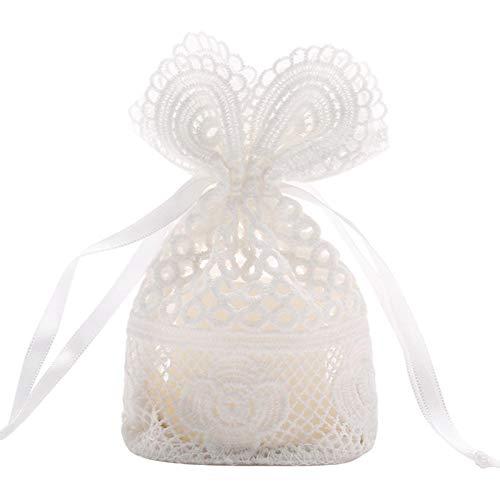Elementra Kordelzug Tasche Hochzeit Süßigkeiten Tasche Perle Garn Tasche Schmuck Tasche Für Ring Ohrring Armband Halskette Aufbewahrungstasche 10x14CM