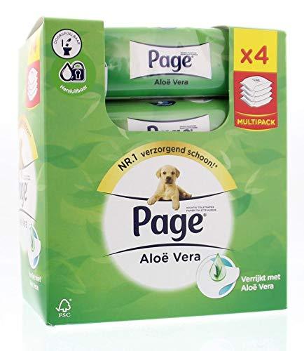 Page Vochtig Toiletpapier Navul Skin Kind Aloe 4-Pack, 168 Stuk