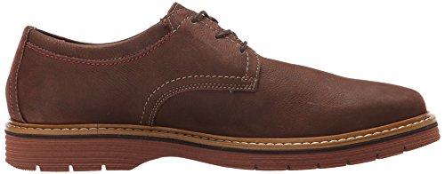 Clarks Men's Newkirk Plain Oxford, Dark Brown Leather, 9.5 M US