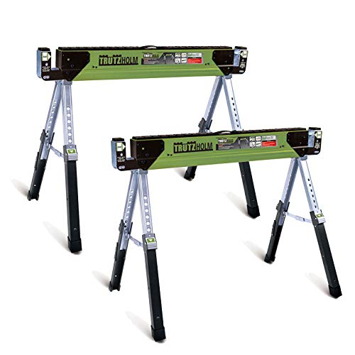 TrutzHolm® 2x Stahl Sägebock Arbeitsbock höhenverstellbar bis 590/1180 kg klappbar Werkbock Untergestell