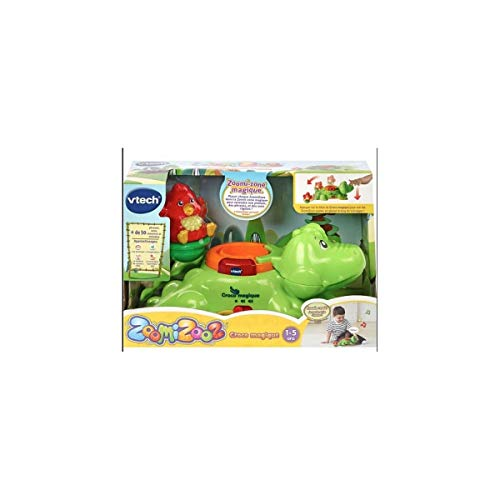 VTech - ZoomiZooz - Croco magique + 1 animal - Animaux à collectionner – Version FR