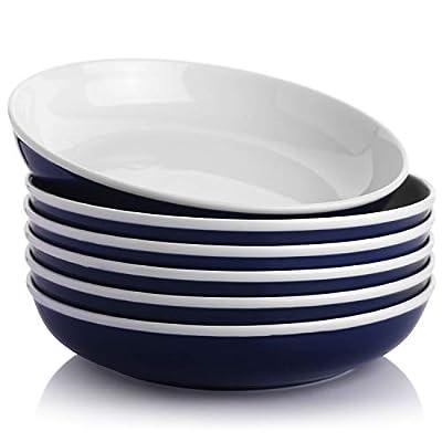 SAMSLE Pasta Bowls 30 Ounces, Ceramic Pasta Sal...