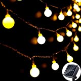 Solar String Lights Outdoor 60 LED, 8M/27Ft Solar...