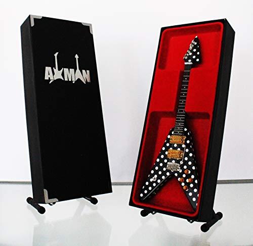 Randy Rhoads (Quiet Riot) Réplica de guitarra en miniatura con caja de exhibición y soporte
