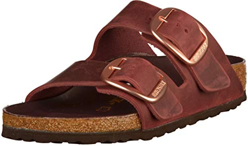 BIRKENSTOCK Damen Arizona Big Buckle Sandalen, Rot (Zinfandel Hex Port Zinfandel Hex Port), 39 EU
