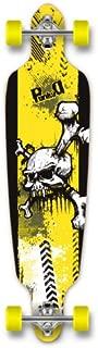 Yocaher Graphic Series Complete Drop Through Skateboards Longboard w/Black Widow Premium 80A Grip Tape Aluminum Truck ABEC7 Bearing 70mm Skateboard Wheels