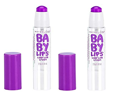 Pack of 2 Maybelline New York Baby Lips Color Balm Crayon, 40 Playful Purple