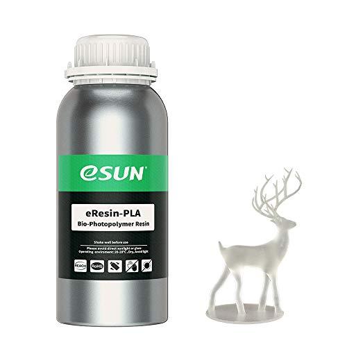 eSUN LCD UV 405nm Resina Plant-based per Stampante 3D Resina PLA Biodegradabile Fotopolimerizzante UV Resina Fotopolimerica Rapida per Stampa 3D LCD, 500g Trasparente