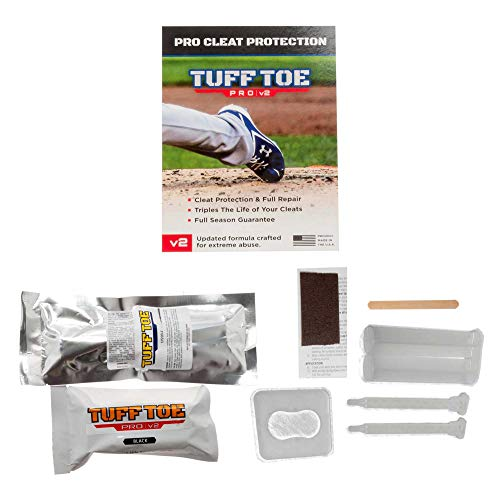 Tuff Toe Pro V2 Fastpitch (Black) Softball Cleat Guard | Pitcher's Shoe Protector