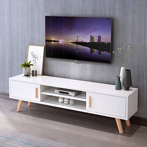 Moderner TV-Ständer mit Stauraum Unterhaltungszentren TV-Medienkonsolentisch mit Schranktüren und offenem Lagerregal TV-Schrank Stauraum TV-Monitor Veranstalter Wohnzimmer- / Schlafzimmer- / Büromöbe