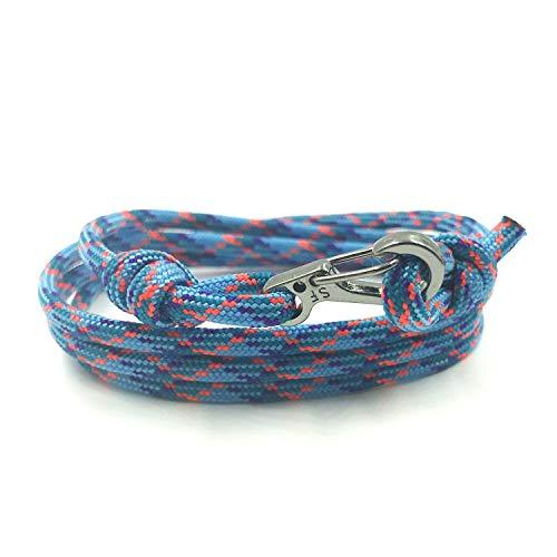 Rock + Shore Einstellbare Karabiner-Armband | Kletterarmband | Mens Seil Armband | Damen Seil Armband