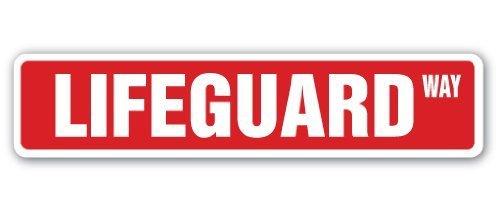 Funny Deko Schilder Lifeguard Street Sign Swimming Pool Lake Ocean Life Guard Metall Aluminium Zeichen für Garagen, Wohnzimmer