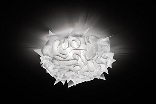 Slamp acrilico Lampada da soffitto/Veli in Bianco | Manifattura Made in Italy | plafoniera moderno | lampada E27