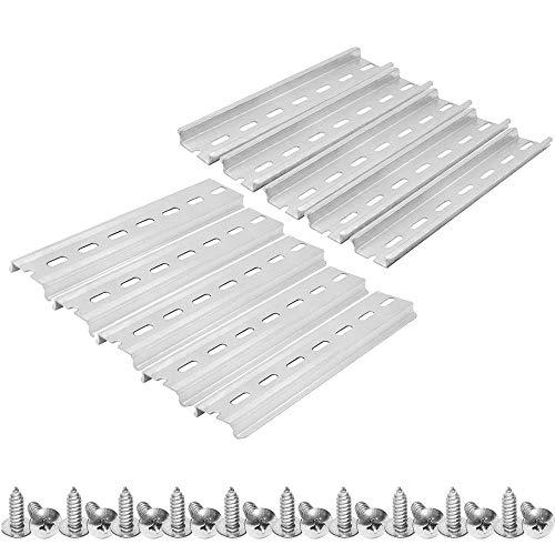 TooTaci 10 Stück DIN-Schiene Schlitz, Aluminium, 35 mm breit, 7,5 mm hoch, 150 mm lang