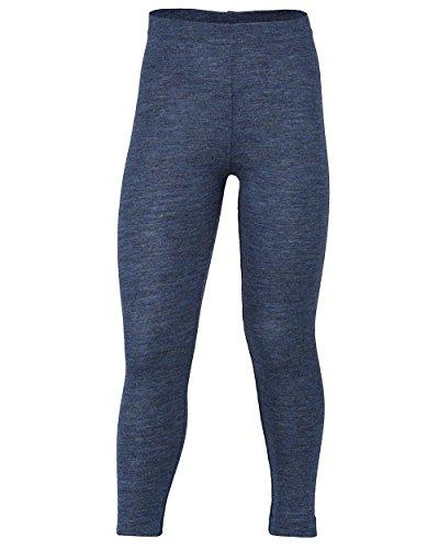 Engel Natur Kinder-Leggings, 100% Bio-Merinoschurwolle (116, blau melange)