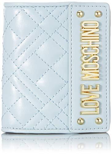 Love Moschino Damen Jc5601pp1a Geldbörse, Blau (Nuvola), 2x10x19 Centimeters