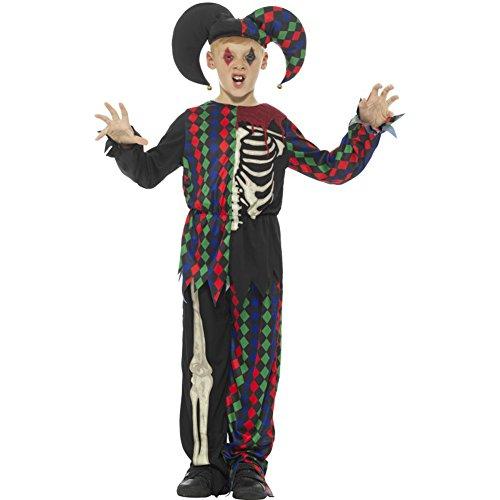 Smiffy's - kinderen jongens skelet litrièrekostuum, bovenstuk, broek en hoed, meerkleurig Tween veelkleurig