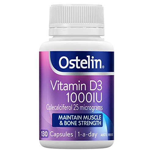Ostelin Vitamin D3 1000IU, Maintains Bone and Muscle Strength, Helps Boost Calcium Absorption