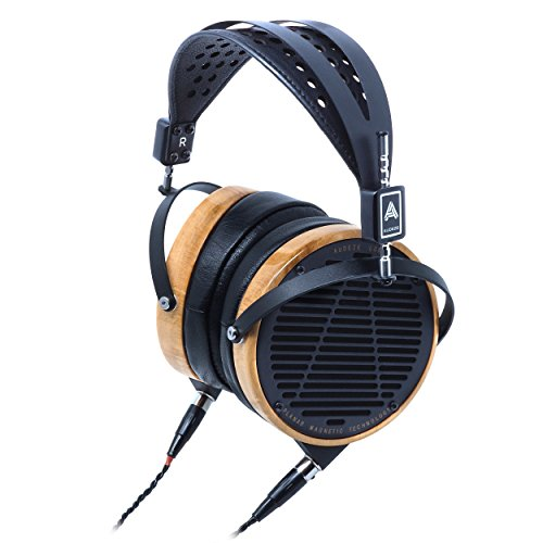 AUDEZE LCD-3 Over Ear | Open Back Headphone | Maple Wood Rings | Leather Ear Pads