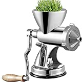 Prensa manual de pasto de trigo con base de ventosa y abrazadera de mesa, molino de pasto de trigo, eje de tornillo largo, exprimidor de pasto de trigo,