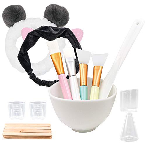4 Stück Silikon Maskenpinsel/Gesichtsmaske Bürste Set, Gesichtsmaske Pinsel mit Haarbänder und Maskenschüssel, Kosmetik Make-up Beauty Produkte für DIY Maske, Reinigungsmaske,Serum