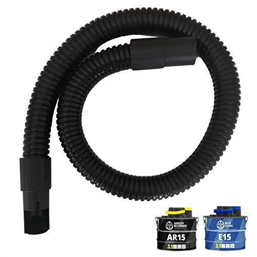 Parpyon® - Tubo para aspirador de cenizas AR15 – EC15 tubo de repuesto flexible de 1,2 m para aspira cenizas Annovi Reverberi y Tillo de 15 litros de repuesto para aspiradores de ceniza de chimenea
