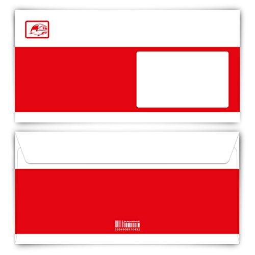 Briefumschläge (20 Stück) DIN Lang - Bahnkarte Ticket
