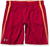 Under Armour Men's Tech Mesh Graphic Shorts , Rapture Red (620)/Steel , Large