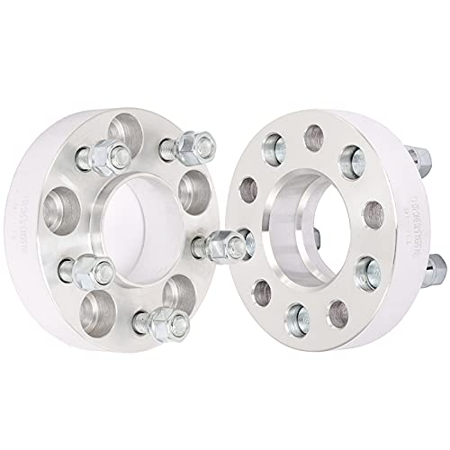 ECCPP 2x 1.25' Wheel Spacers Hubcentric 5 lug 5x4.5 to 5x4.5 70.5mm 1/2' Fits for Ford Bronco Ranger...