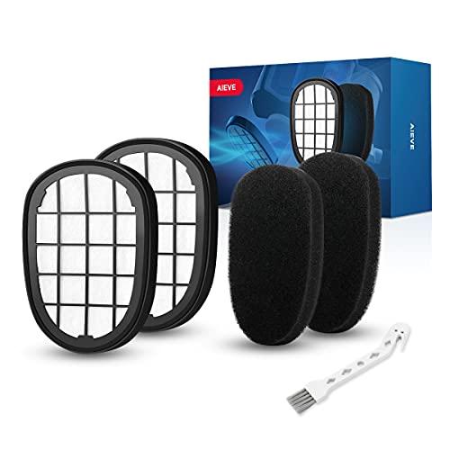 AIEVE 2er Ersatzfilter Filter Set Ersatzteile kompatibel mit Philips SpeedPro Max Staubsauger wie z.B. XC7042/01 XC8045/01 FC6823 XC8147/01 usw. (2* Motorfilter und 2* Schaumfilter)