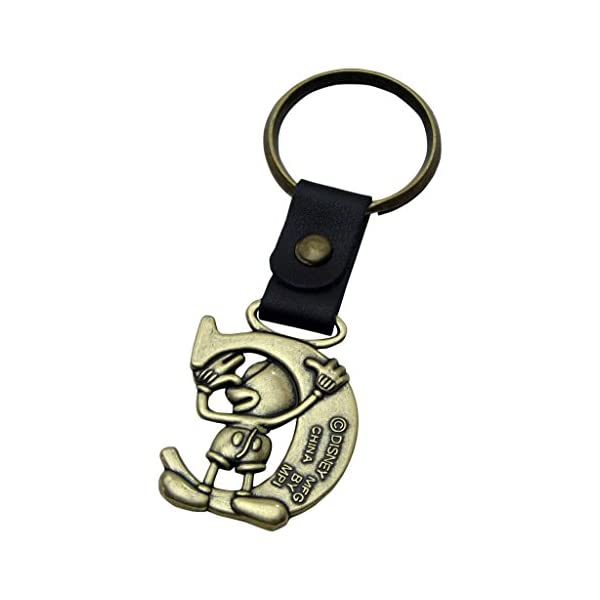 Mickey Mouse Letter C Disney Brass Keychain