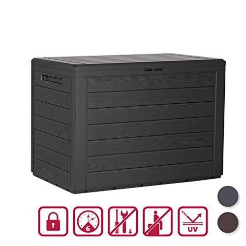 Kreher Kompakte Kissenbox/Aufbewahrungsbox mit 190 Liter Nutzvolumen. Robust, abwaschbar und einfach im Aufbau! (Anthrazit)