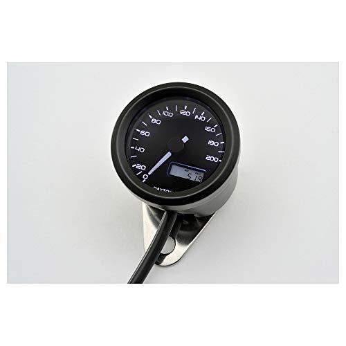 DAYTONA VELONA, Digitaler Tacho, bis 200 km/h, rund Ø 48 mm, schwarz