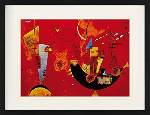 1art1 Wassily Kandinsky - Mit Und Gegen, 1929 Gerahmtes Bild Mit Edlem Passepartout | Wand-Bilder | Kunstdruck Poster Im Bilderrahmen 80 x 60 cm