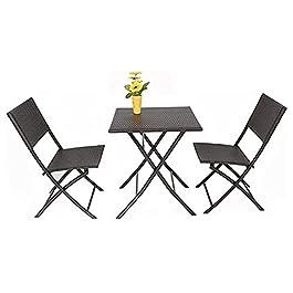 ensemble de chaises de table de conversation Table de rotin de plein air et chaise Combinaison Cour de Cour Balcon…