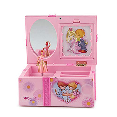 JINGDU Caja de música de baile Accesorios de dibujos animados Caja de música regalo, para regalo de niños