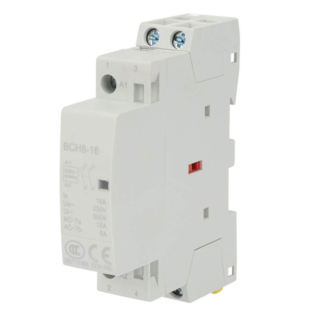 Sorpresa de Verano Contactor de AC, 2P 16A 220V / 230V 1NO 1NC 50 / 60HZ Contactor de AC 2P 16A 220V/230V 1NO 1NC 50/60HZ Carril DIN Contactor doméstico de CA
