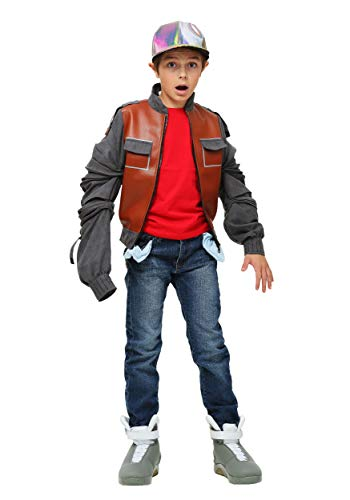 Boys Back to the Future Part II Marty McFly Costume Jacket. 4 Sizes with or without the cap