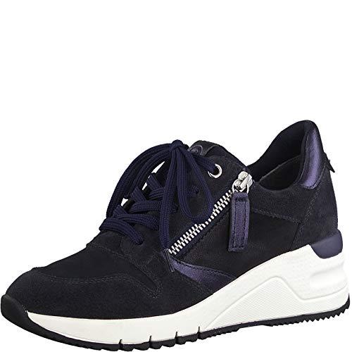 Tamaris Damen Schnürhalbschuhe, Frauen sportlicher Schnürer,lose Einlage, strassenschuh Sneaker schnürer freizeitschuh,Navy Comb,38 EU / 5 UK