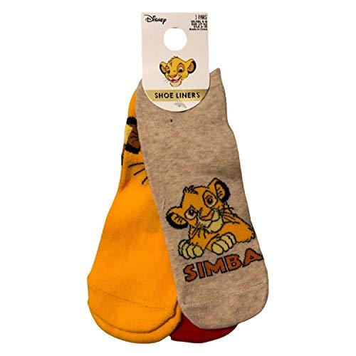 Primark Limited - Pack 3 Calcetines de El Rey Leon con Licencia Oficial Disney - The Lion King - para Mujer 4-9 EUR 37-42