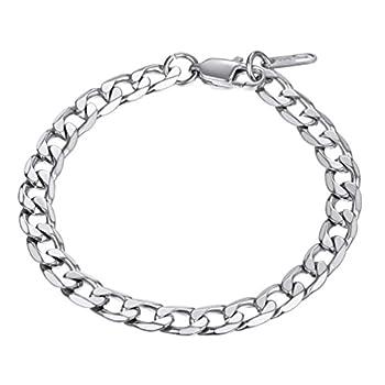 PROSTEEL Men Bracelet Pulseras para Hombres Mens Braclets Silver Cuban Link Chain Tennis Bracelet for Women Stainless Steel Bracelets for Men