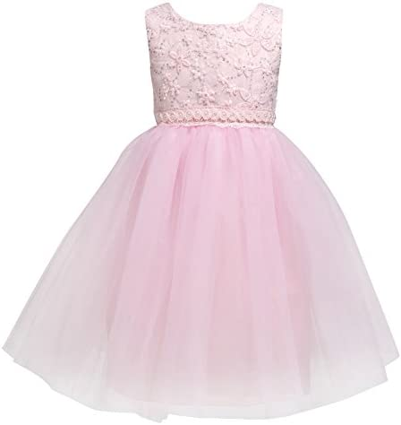 Flower Baby Girl Lace Dress Kids Princess Pageant Party Wedding Dresses Pink 5XL 9 10Year product image