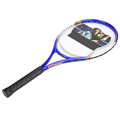 Raqueta De Tenis, Raqueta De Tenis para Principiantes Raqueta De Tenis Robusta De Aleación De Aluminio Bastante Duradera para Tenis(Azul)