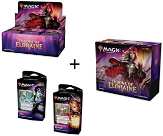 MTG Magic the Gathering Throne of Eldraine Booster Box + Bundle + Both Planeswalker Decks!