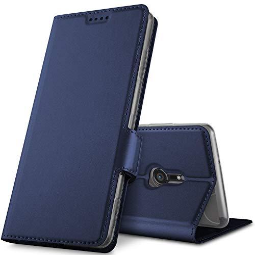GeeMai Sony Xperia XZ3 Hülle, Premium Sony Xperia XZ3 Leder Hülle Flip Case Tasche Cover Hüllen mit Magnetverschluss [Standfunktion] Schutzhülle handyhüllen für Sony Xperia XZ3 Smartphone, Blau
