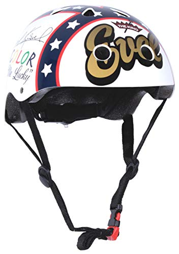 KIDDIMOTO KMH020/M - Fahrrad Helm Evel Knievel, Gr. M (5-14 Jahre)