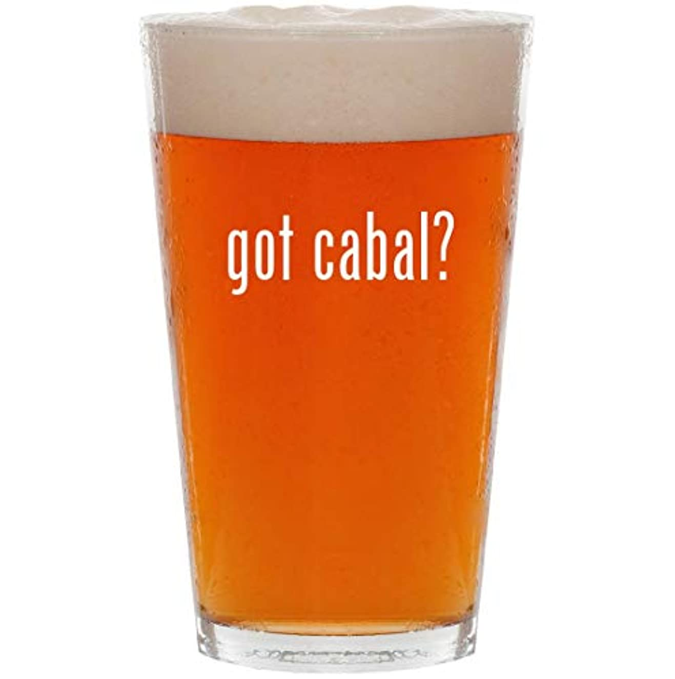 got cabal? - 16oz All Purpose Pint Beer Glass