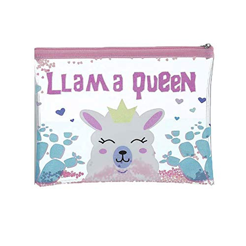 Confortabil Cosmetic Bag, Cartoon Envelope Bag Glitter Sequin Pencil Case Large Capacity Cosmetic Bag Style 4
