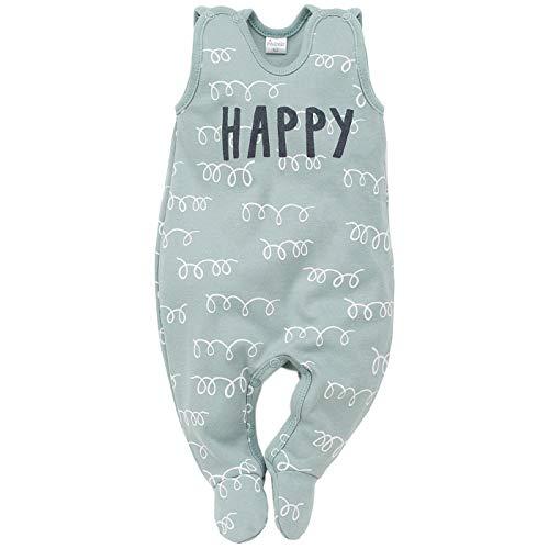 Pinokio - Happy Llama - Barboteuse bébé (Pyjama/Une pièce) 100% Coton - sans Manches - Turquoise ou Orange/Abricot - Motif de Lama - Enfants Filles (68 cm, Turquoise)